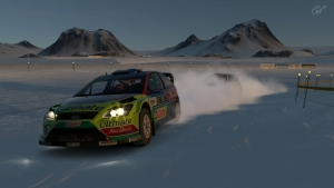 Rally race in the snow